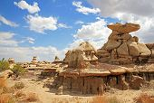 picture of na  - Bisti Badlands  - JPG