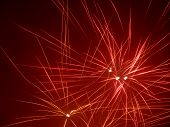 foto of firework display  - a starry fireworks display in dark back - JPG