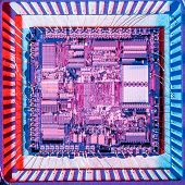 pic of microprocessor  - Top view of a microprocessor - JPG