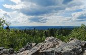 stock photo of ural mountains  - Mountain landscape in the afternoon - JPG