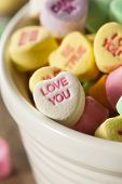 image of conversation  - Colorful Candy Conversation Hearts for Valentine - JPG