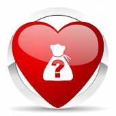 stock photo of riddles  - riddle valentine icon   - JPG