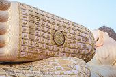 picture of recliner  - Foot of Reclining buddha at South of thailand - JPG