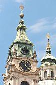 image of nicholas  - Saint Nicholas Church clock tower located at Prague - JPG