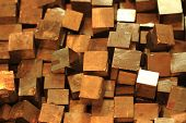 image of iron pyrite  - golden cubes background  - JPG