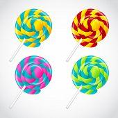 image of lollipop  - Delicious lollipop vector set - JPG