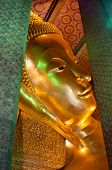 image of recliner  - This is a part of gold Reclining Buddha - JPG