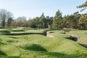 pic of battlefield  - the trenches of the battlefield at Vimy France - JPG