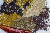 stock photo of urad  - Close up of Spices used in Indian Cooking - JPG