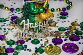 pic of tuesday  - Happy Mardi Gras decorations for celebrating fat tuesday - JPG