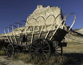 image of western nebraska  - Scotts Bluff National Monument is located in western Nebraska - JPG