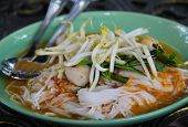stock photo of rice noodles  - Noodles in thailand. It make by rice and  soup. ** Note: Soft Focus at 100%, best at smaller sizes - JPG