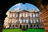 picture of palace  - Palace of Holyroodhouse in Edinburgh United Kingdom - JPG