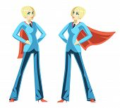 foto of superhero  - Confident business woman - JPG