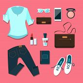 image of outfits  - Young woman clothes and accessories outfit - JPG