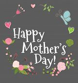 stock photo of floral bouquet  - Happy Mother - JPG