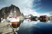 stock photo of lofoten  - boats - JPG