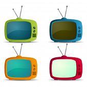 pic of tv sets  - Retro TV icons set - JPG