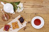 pic of breakfast  - breakfast table with tea - JPG