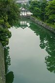 image of shogun  - a old japanese building beside the moat which surrounding the Nijo Castle Japan - JPG