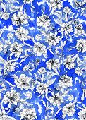 picture of interpreter  - seamless abstract floral pattern design - JPG