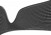 picture of mobius  - black and white mobious wave stripe optical design - JPG