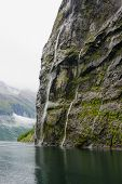 pic of fjord  - Scenic View of the Geiranger fjord Norway - JPG