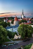 image of olaf  - Aerial View of Tallinn Old Town from Toompea Hill in the Evening Tallinn Estonia - JPG