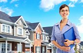 picture of real-estate agent  - Smiling young business woman - JPG