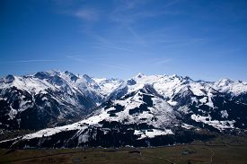 image of mountain-high  - pinzgau austria alps europe mountain mountains april spring winter snow valley white blue salzach nature landscape high tauern high tauern national park - JPG