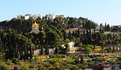 pic of church mary magdalene  - Russian Church of Saint Mary Magdalene on the Mount of Olives in Jerusalem - JPG