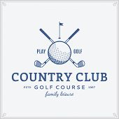 Постер, плакат: Golf Country Club Label