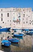 Monopoli tourist port. Apulia. poster