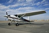 stock photo of cessna  - the cessna 180 no longer in production is a pilot favorite - JPG