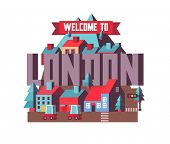 London city in England is a beautiful destination to visit for tourism. poster