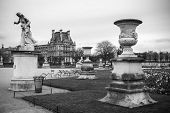 Постер, плакат: Paris France: Tuileries Garden In Paris France Tuileries Garden jardin Des Tuileries Is A Publi