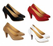 Постер, плакат: Set of classic woman shoes