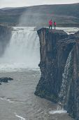 Godafoss Waterfall In Iceland poster