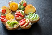 Fruit Dessert Sandwiches With Ricotta Cheese poster