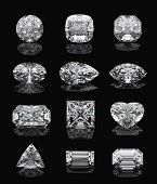 stock photo of marquise  - Diamond shapes - JPG