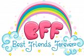 stock photo of chums  - Illustration Featuring the Words Best Friends Forever - JPG