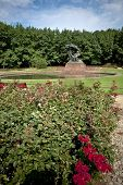 foto of chopin  - Frederick Chopin monument in Lazienki Royal Garden in Warsaw Poland - JPG