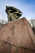 stock photo of chopin  - Frederic Chopin monument in Lazienki Park in Warsaw Poland - JPG