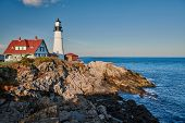 Portland Head Lighthouse at Cape Elizabeth, Maine, USA. poster
