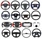 Steering Wheel Vector Car Vehicle Driving Control Device In Automobile Illustration Transportation D poster