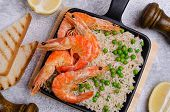 Whole Shrimp With Brown Rice poster