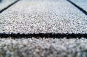 Perspective Of Grey Carpet With Black Lines Background Texture, Close Up, Gray Textile Texture, Fluf poster