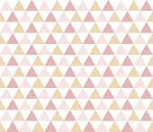 Seamless Geometric Pattern With Colorful Triangles On White Background. Seamless Abstract Triangle G poster