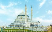 Sharjah New Mosque Second Biggest Mosque United Arab Emirates Beautiful Traditional Islamic Architec poster