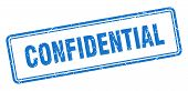 Confidential Square Grunge Isolated Stamp. Confidential Sign poster